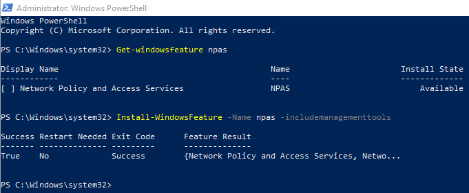 nps.installation.powershell